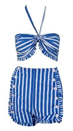bathing suit 1940s Timeless Vixen Vintage