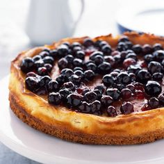 This delicious cheesecake is the perfect treat for the summer. Search triple tested recipes from the Good Housekeeping Cookery Team. Chocolate Cheesecake Recipes, Baked Cheesecake Recipe, Best Cheesecake, Blueberry Cheesecake, American Cheesecake, How To Make Pancakes, Delicious Deserts, Cupcake Cakes, Cupcakes