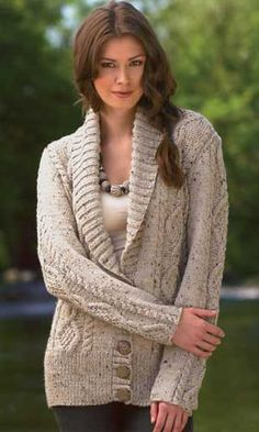 One-Skein Crochet Shawl Pattern | ... two kinds of cables, and a shawl collar shaped with short rows