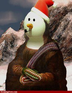 0492 [Azwoodbox] Mona Lisa in the Snow