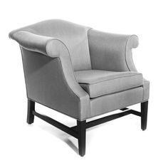 BRIGHT CHAIR CAMELBACK 5700 LOUNGE CHAIR W: 35.5   D: 31.5   H: 35 Arm Height: 30 Seat Height: 19.5 Yardage 5.5 Yds. COM 109 Sq. ft. COL. - Find this and many other chair options for your design project at Ernest Gaspard & Associates | Atlanta, GA