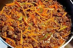 The perfect Chinese minced meat pan recipe with picture and easy step . - The perfect Chinese minced meat pan recipe with picture and simple step-by-step instructions: Prepa - Hamburger Meat Recipes, Crockpot Recipes, Crockpot Meat, Healthy Eating Tips, Healthy Recipes, Minced Meat Recipe, Meat Appetizers, Mince Meat, Best Meat
