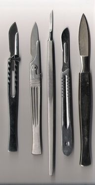 Mmmm Scalpels-- I have the 4th one. Looks like a 3 handle with a 10 blade. :)