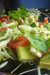 Lemon Basil Chopped Summer Salad, try without the cheese   PPC