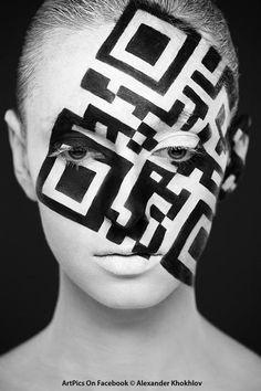 QR code facial make-up