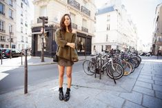 slouchy knit delicate filigree skirt in your face leather boots