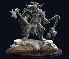 Diablo Barbarian, chen zhe on ArtStation at https://www.artstation.com/artwork/0EAJ4