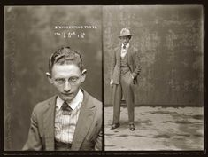 anthony luke's not-just-another-photoblog Blog: Fascinating Vintage Glass Plate Negative Mugshots From the 1920s