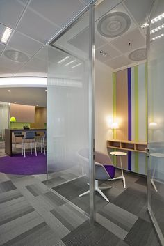 Phone booth_Alcatel Lucent Italia by DEGW Italia #phonebooth #alcatel #degwitalia #office #ufficio #noise #furniture