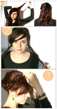 Situation: Oh no! 10 minutes till my date! Easy braided up-do!