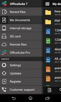 OfficeSuite is a universal document viewer for Android enabling you to open, view, print and share native Microsoft DOC, DOCX, DOCM, RTF, TXT, LOG, ODT, XLS, XLSX, XLSM, CSV, ODS, PPT, PPTX, PPS, PPSX, PPTM, PPSM, ODP, EML, PDF and ZIP files and attachments ANYWHERE, ANYTIME!  OfficeSuite includes a File Browser and integration with cloud service leaders as Box, DropBox, Google Drive, SkyDrive and SugarSync to give users a multitude of options on how to manage files and attachments.