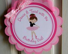 Ballerina Birthday Party Door Sign