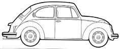 vw beetle coloring pages 07