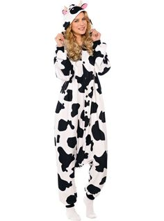 Adult Cow One Piece Pajamas - Party City..i really really want this!