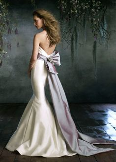 Ivory and silver wedding gown
