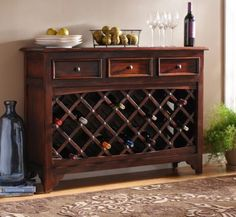 Wood Syrah Wine Cabinet   Kirkland's