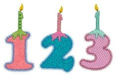 Accuquilt Go! Numbers With Candles Applique Set - 5x7 | What's New | Machine Embroidery Designs | SWAKembroidery.com VStitchDesigns