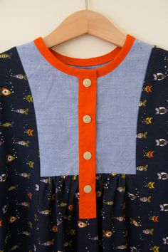 Oliver + S Hide-and-Seek Dress with front placket - modification by Shelley
