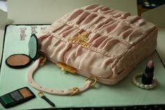 prada purse cakes   Prada Handbag cake