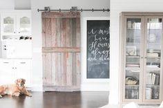 Barn Doors, Garage Doors, Chalkboard Paint, Spring Blooms, Claude Monet, Stems, Family Room, Diy Projects, Interiors