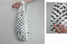 DIY All Purpose Leather Net Bag -- genius! Aesthetically, it reminds me of Alexander Wang's Small Golf Bag.