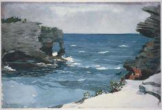 Rocky Shore, Bermuda  Winslow Homer, 1900  Watercolor over graphite pencil on cream wove paper