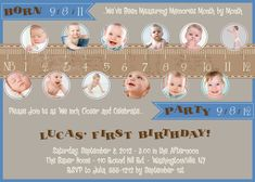 MEASURE A YEAR One Year in a Flash First Birthday Party Event Printable Invitation/One Year Old/Boy/Girl - You Print