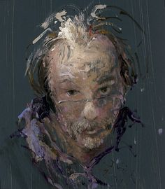 JAN VAN DE KOOI- Self-Portrait...Jan van der Kooi was born in 1957 and studied at the Art Academy Minerva in Groningen, The Netherlands. Jan van der Kooi seeks inspiration for his works in his surroundings. Light, space and colour are most remarkable in his oil paintings.