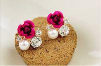 Versão coreana de mulheres de sholl rosa brincos brincos E638