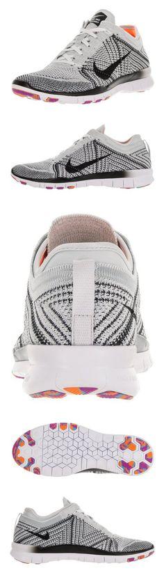 the best attitude c1e1e 1f394  130 - Nike Women s Free Tr Flyknit White Black Pr Pltnm Hypr Vlt Running  Shoe 8 Women US  shoes  nike