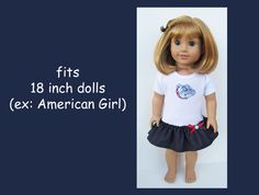 Gonzaga Bulldogs / Spokane WA / 18 inch doll / by kkdesignerdolls