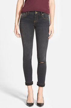 KUT from the Kloth 'Catherine' Distressed Stretch Slim Boyfriend Jeans (Courtesy) available at #Nordstrom