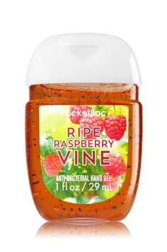 Ripe Raspberry Vine - PocketBac Sanitizing Hand Gel - Bath & Body Works - Now with more happy! NEW PocketBac is perfectly shaped for pockets & purses, making it easy to fight germs on-the-go! Plus, our all-new skin softening formula contains powerful germ-killers that keep your hands clean & soft.