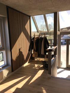 Wooden slat wall, wall panels & acoustic panels at Wood Slat Wall, Wood Panel Walls, Wooden Slats, Walnut Bedroom, Wood Headboard, Acoustic Panels, Grey Wood, Recycled Wood, Walnut Wood