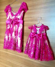 Tal mae tal filha tmtf festa pink baby dress