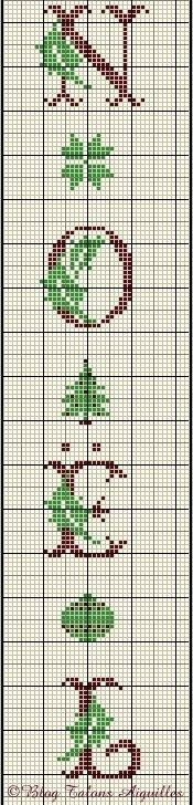"""Noel"" Banner • Chart – use the chart as a guide for the colours or choose your own."