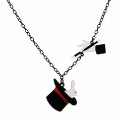Rabbit and the Magician necklace by N2 Les Nereides