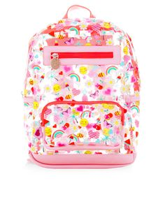 Emoji Print Backpack | Pink | Accessorize