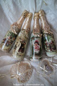 Новый год 2015 ручной работы. Ярмарка Мастеров - ручная работа Эксклюзивные винтажные бутылочки от мастера. Handmade.