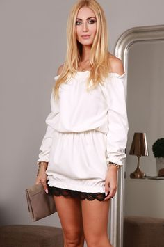 Sukienka kremowa 98660