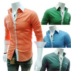 Men's Candy Two Colour Dress Shirts.