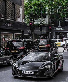 It's black silence. #ItsWhiteNoise #McLaren #Black  @lexphotographyuk