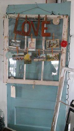 Vintage repurposed window of LOVE.   **sold** www.barndancevintage.com facebook.com/barndancevintage