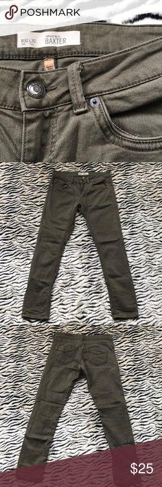 Topshop Moto Baxter Topshop Moto Baxter skinny jeans dark olive green color w30 l 30 Topshop Jeans Skinny