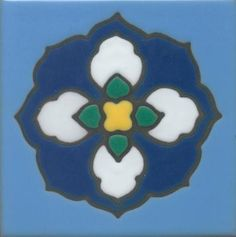 "Hand painted, kiln fired 4""x4"" reproductions of original Catalina tile designs."