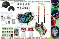 I'm hoping to win 1 of 3 Suicide Squad Hampers and join the #GeekSkwad with @geeknodeza