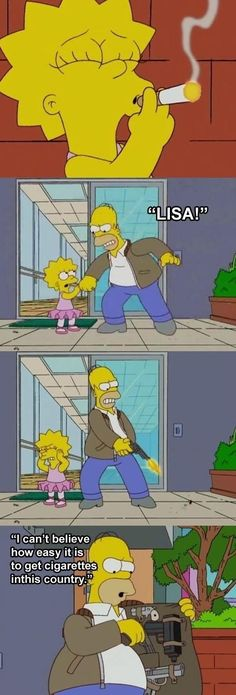 When Homer stopped Lisa from smoking. | 17 Times Homer And Marge Simpson Were Almost, Sort Of, Not Really...