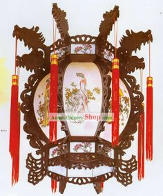 chinese wooden lanterns | ... Chinese Traditional Hand Made Palace Lantern, Painted Ceiling Lantern