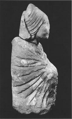 Fig. 9.—Dame de Caudete, Museo de Villena, Alicante Iberian sculptur 300 BC