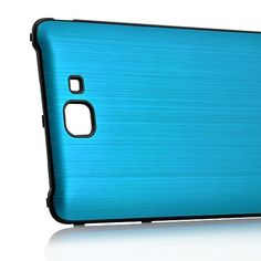 Brush Aluminum Metal Battery Back Cover for Samsung Galaxy Note i9220 GT-N7000 - Blue